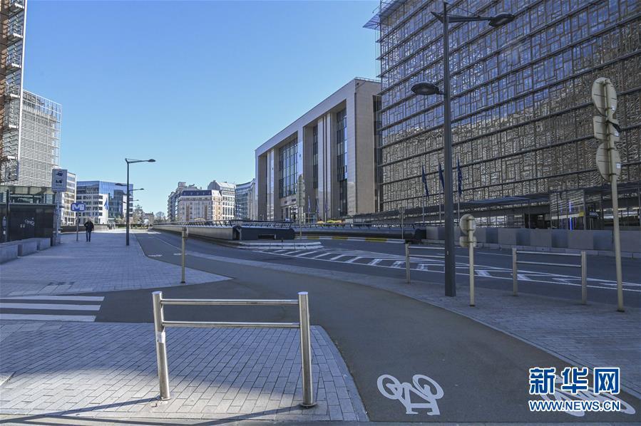 空荡的巴黎欧盟区