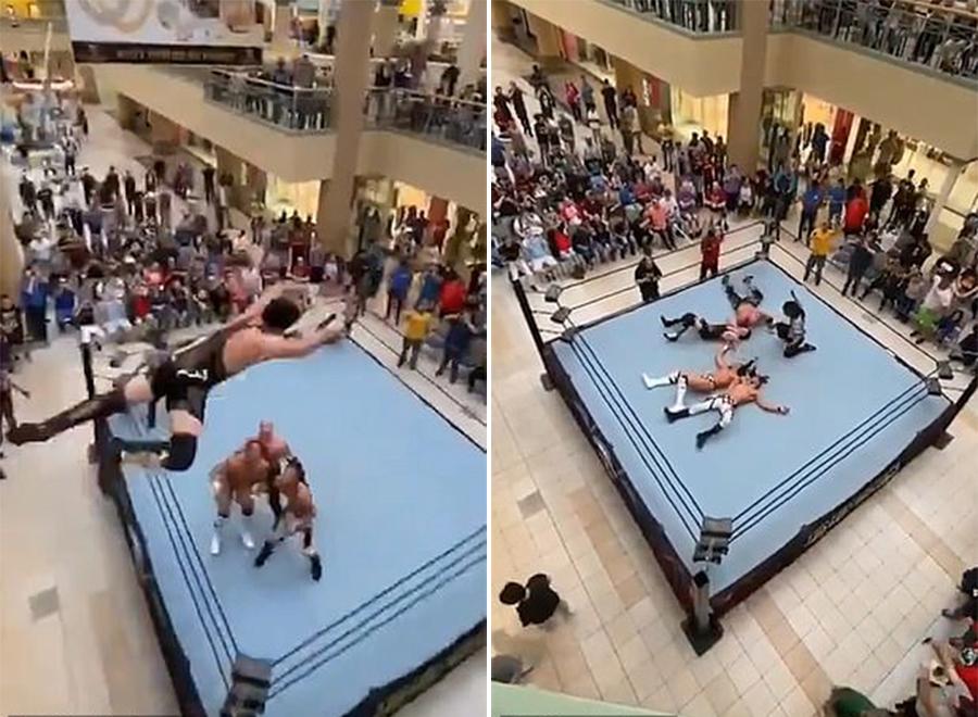 不要命!美国摔跤手称自己会飞从二楼跳下KO对手