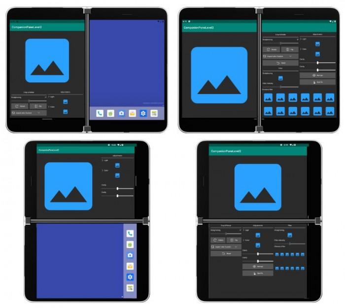 初探Surface Duo用户界面:分享了其首款Android手机支持的新屏幕模式的细节