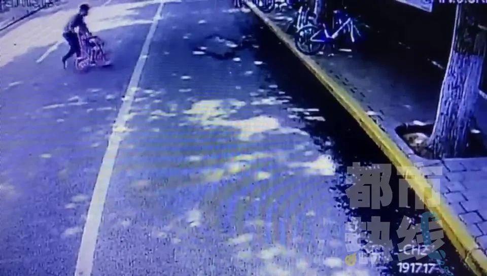 惊险!西安三岁女童独自在快车道骑自行车,后面跟了一辆面包车 紧急时刻…