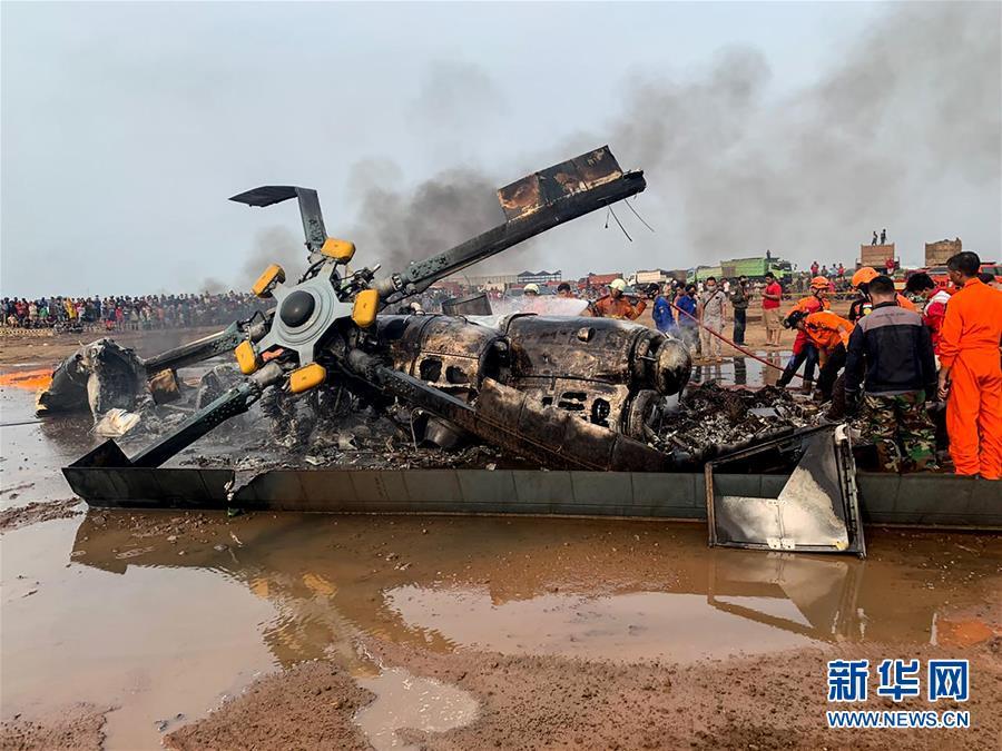 印尼一军用直升机坠毁4名军方人员死亡