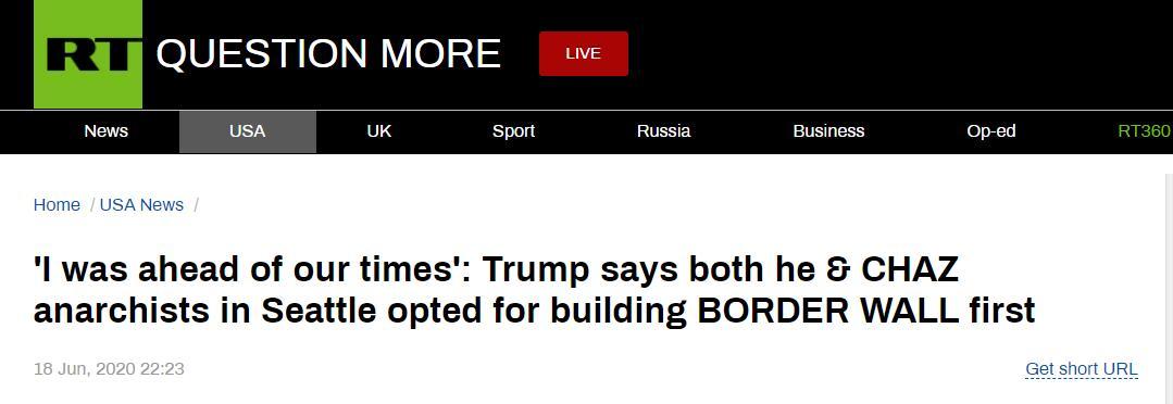 """总统弹劾案成""""美国政治真人秀""""?德媒:特朗普赢了,美国政治输了"""
