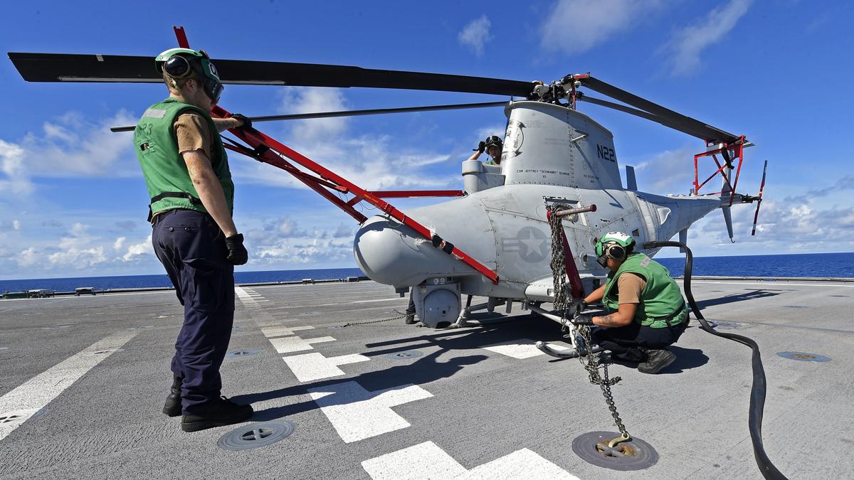 allbet gaming代理:又失事!美军一架MQ-8B无人机在基地内坠毁 第2张