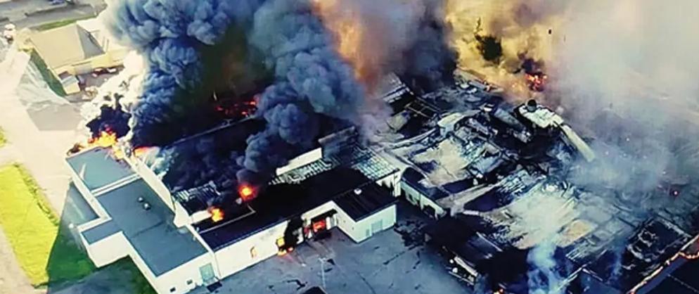 瑞典艾尔夫斯宾一面包厂被严浸火灾烧毁 整体社区受到影响