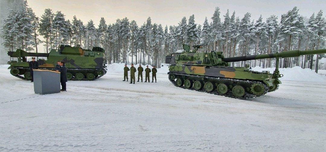 挪威启用将韩K9榴弹炮部署在冰天雪地之中