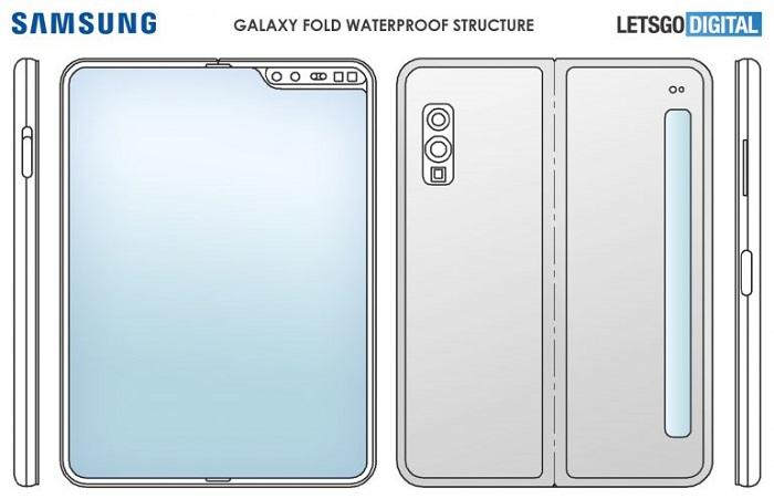 三星折叠屏手机GalaxyFold防水外壳专利曝光