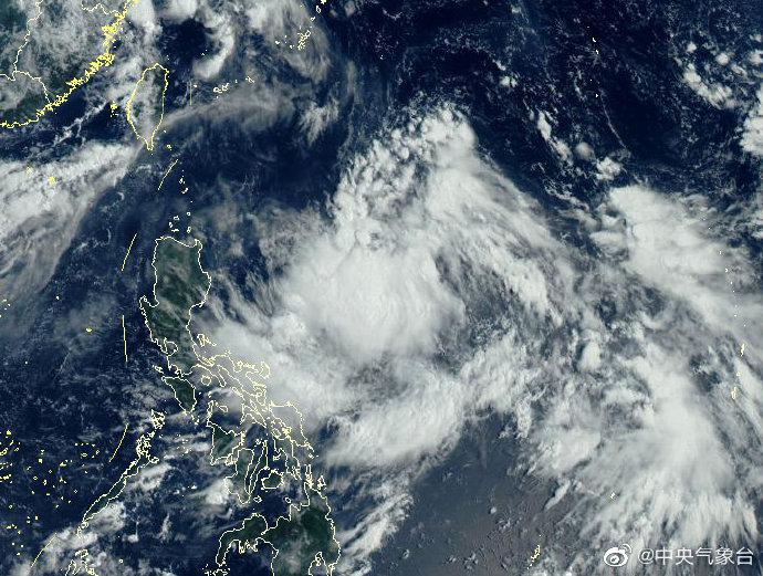 """新生成一热带低压,预计今晚至明天将加强为今年第9号台风""""美莎克"""""""