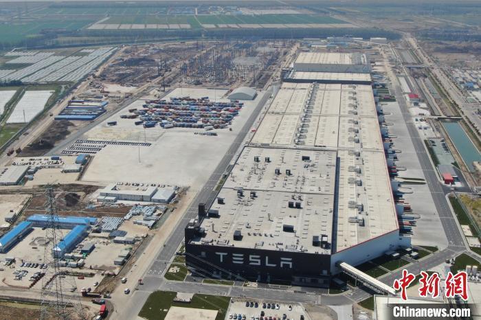 特斯拉上海超級工廠二期建設已初具規模