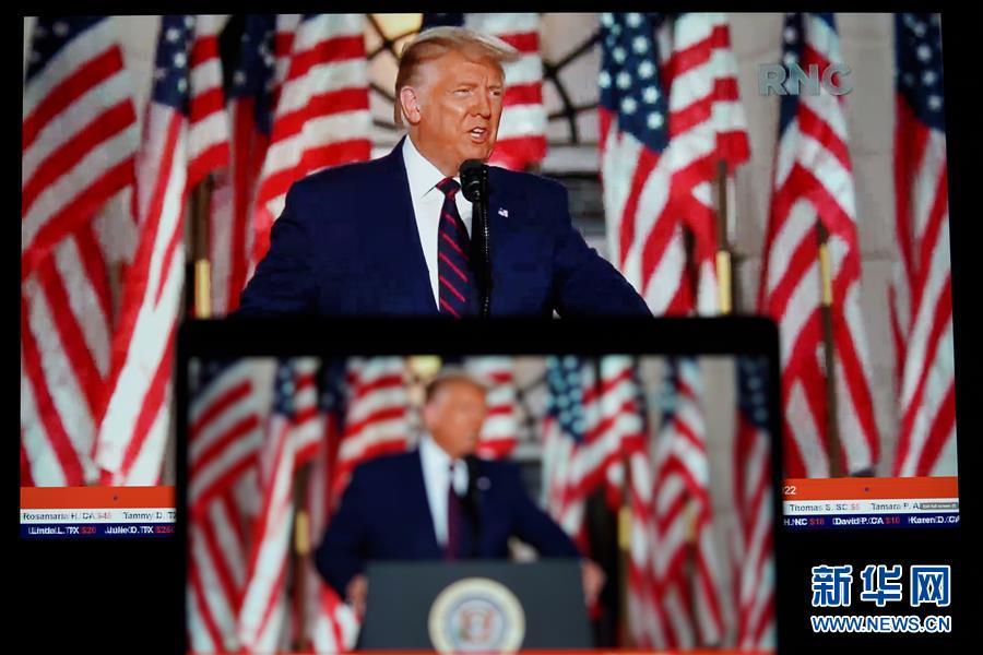 """新华网 特朗普发表接受提名演讲称面临史上""""最重要""""美国大选"""