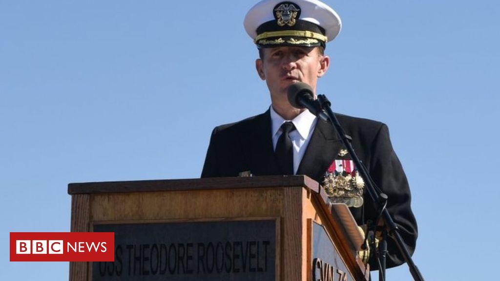 """航母舰长因写""""求援信""""被解职美国网友赞其为""""美国英雄"""""""