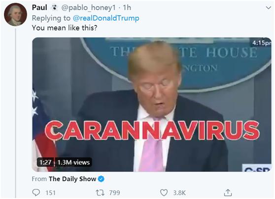 """allbet电脑版下载:特朗普发推埋怨拜登""""严重口误"""":这要是我,""""假新闻媒体""""早就来抨击了 第2张"""