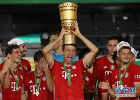 足球——德国杯:拜仁夺冠