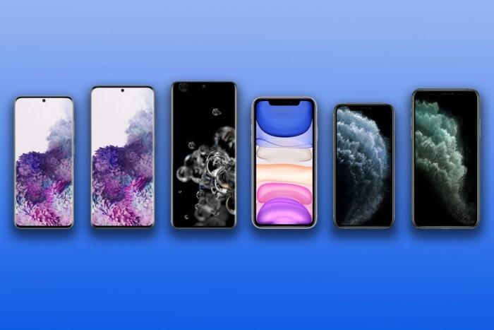 三星Galaxy S20系列横向对比iPhone 11系列