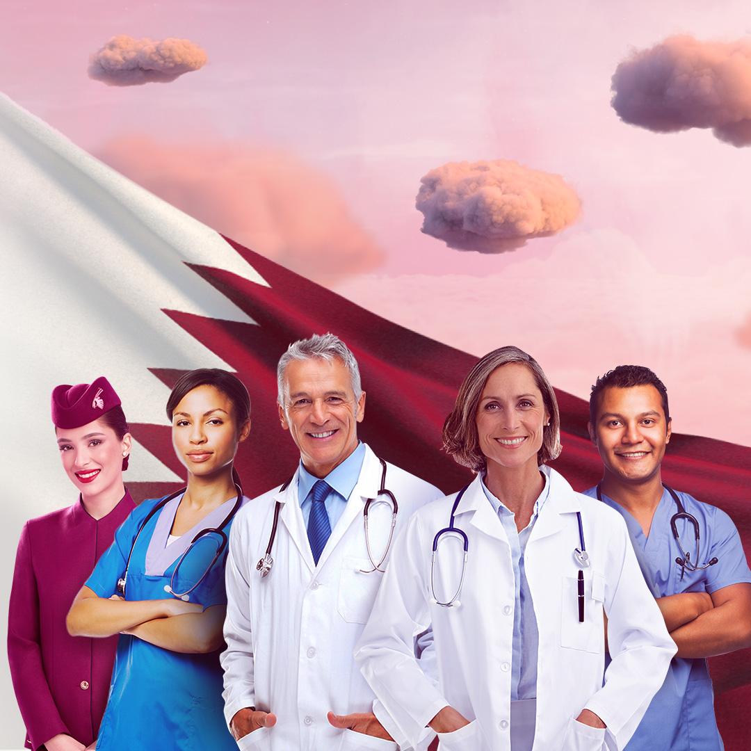 卡塔尔航空为一线医护工作者赠予10万张免费机票