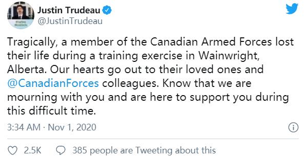 加拿大军方实弹训练击毙自己人 军警介入观察 第3张