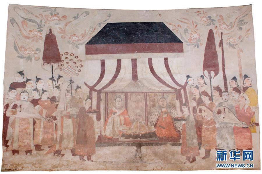 """不开放的北齐墓葬壁画乘""""云""""露真容"""