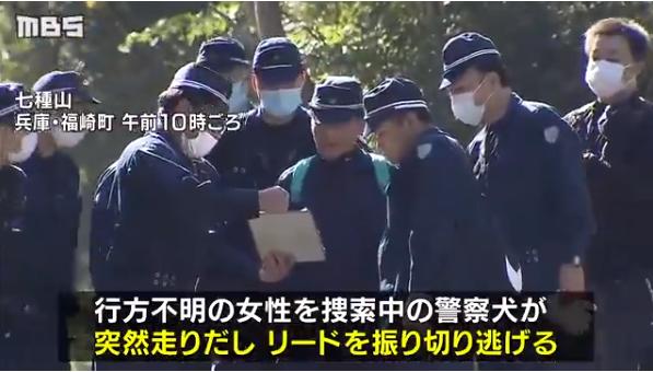日本警犬寻找失踪职员时失踪 40名警员征采2天仍未果 第2张