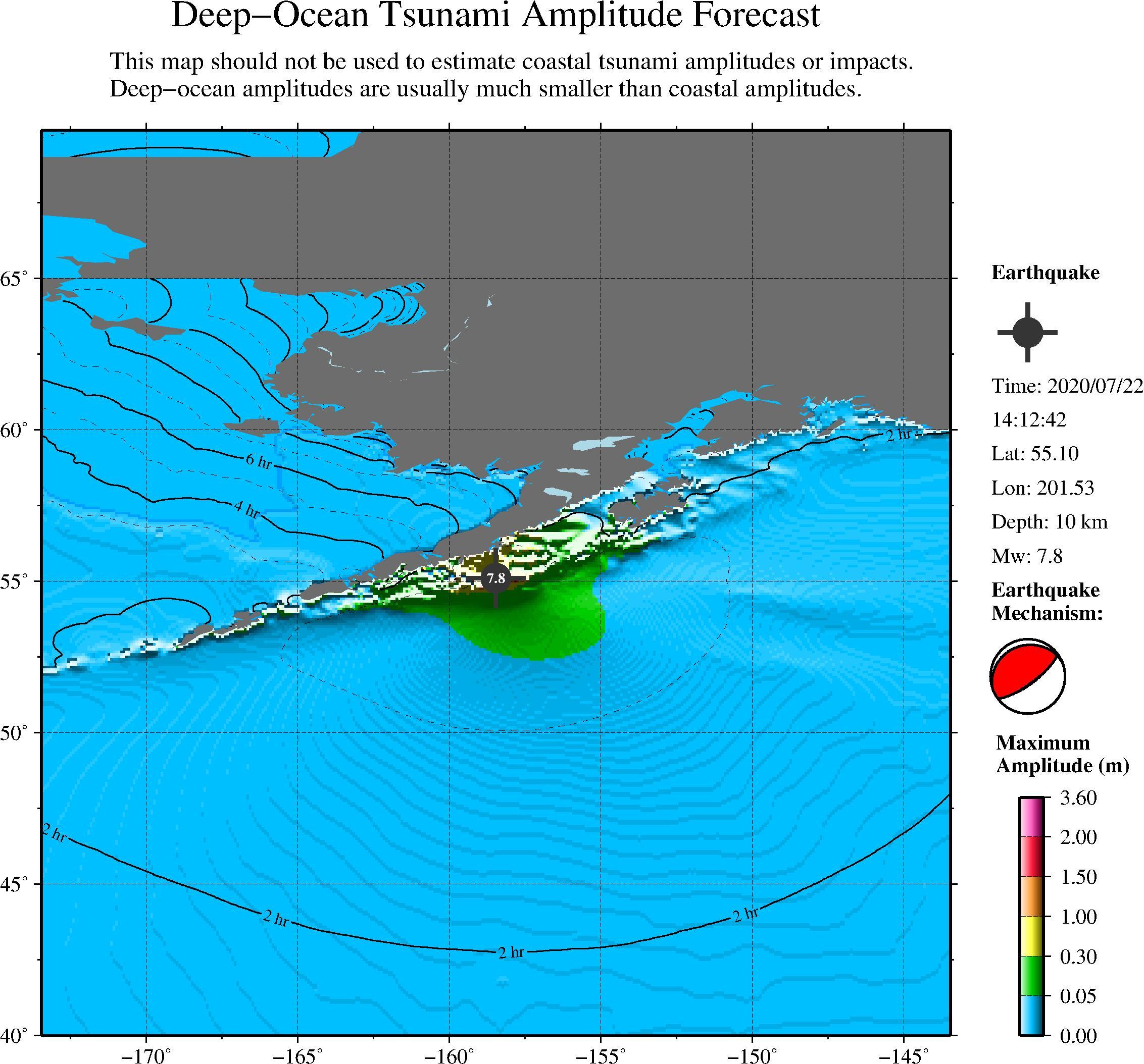 美国阿拉斯加半岛海域地震已经海啸 不会对我国沿岸造成灾害性影响 第1张