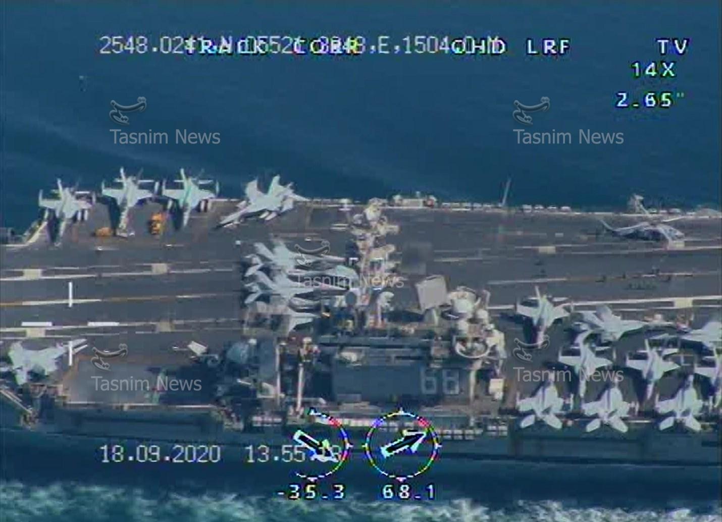 画面高清!伊朗用国产无人机拍下美军航母(图) 第5张