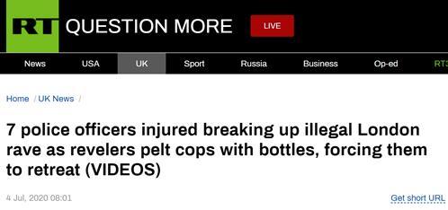 """平心在线:伦敦""""陌头音乐节""""发作冲突:示威者向警员扔砖头,7名警员受伤 第1张"""