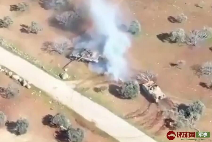 游戏情节在叙利亚战场真实上演:坦克与装甲车贴身缠斗