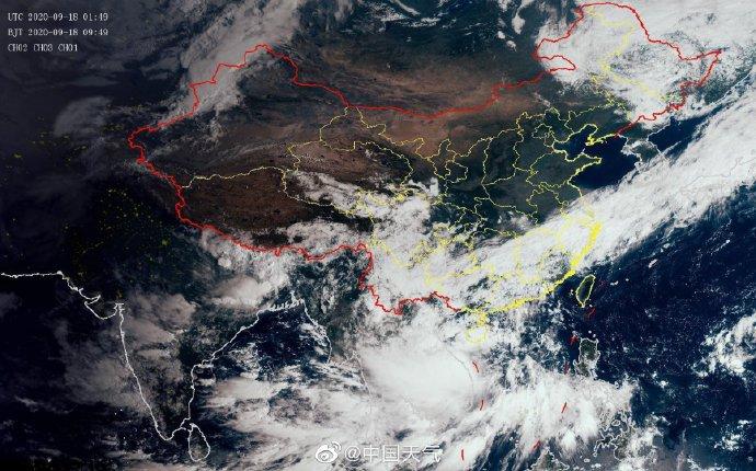 台风红霞(强热带风暴)在越南沿海上岸 第1张