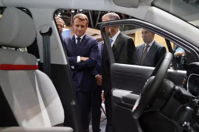 法国总统马克龙宣布将对汽车行业大规模实施扶助计划