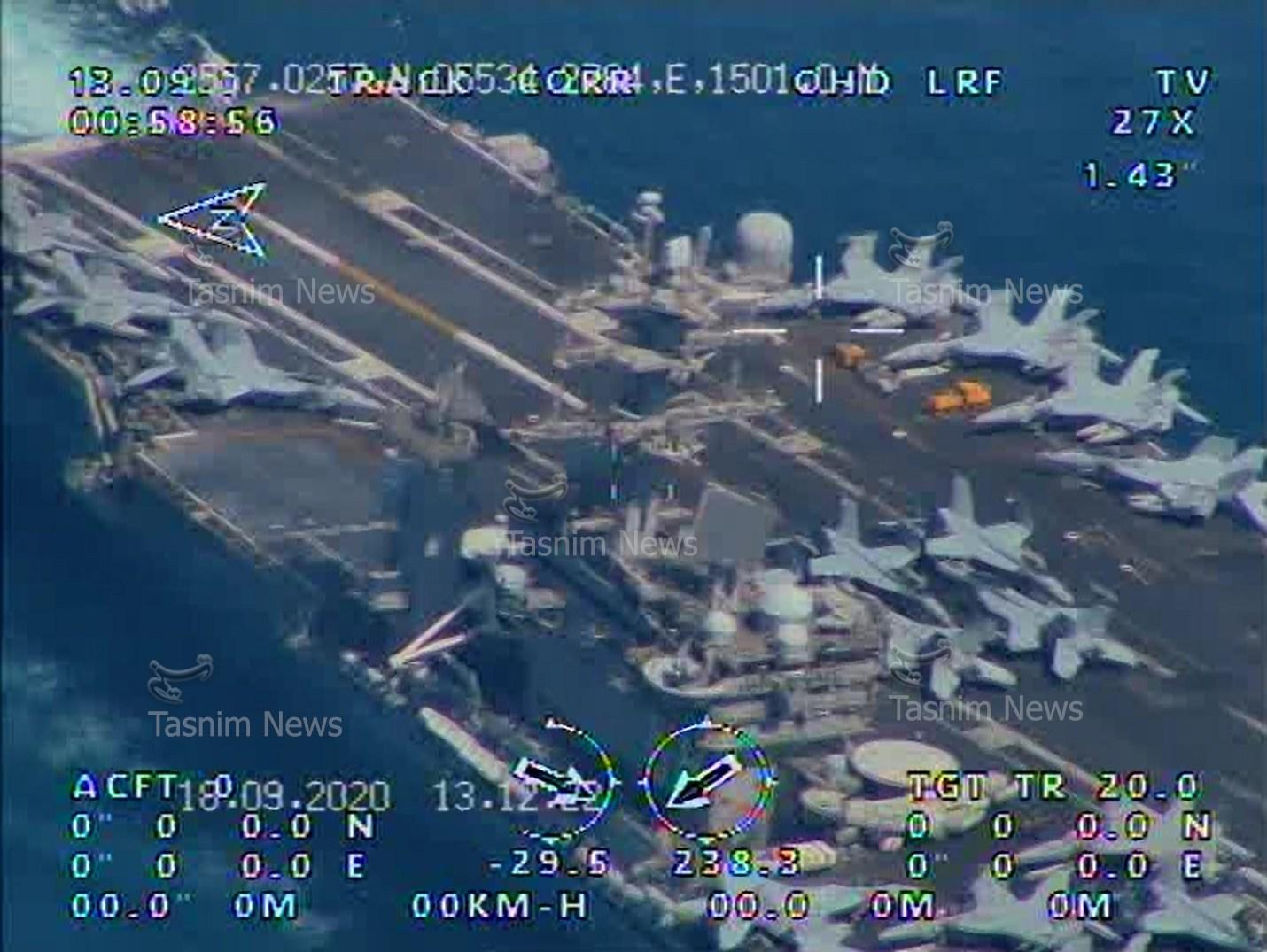 画面高清!伊朗用国产无人机拍下美军航母(图) 第3张