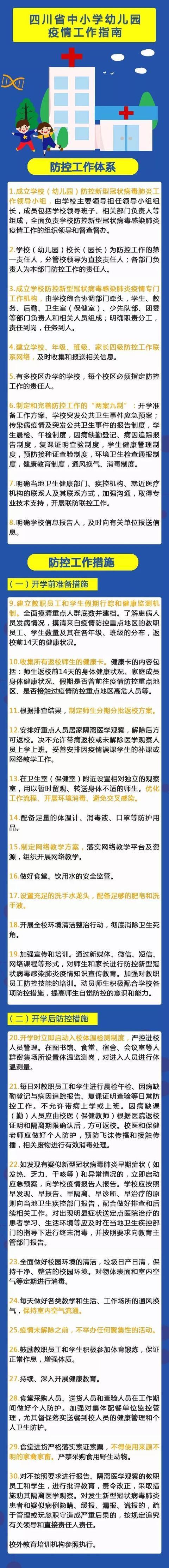 开学前后需这样防控!四川出台中小学幼儿园高校防控指南