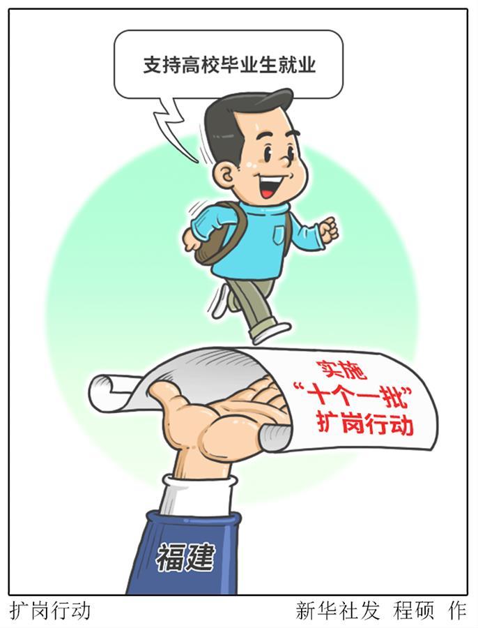 福建实施扩岗行动 支持高校毕业生就业