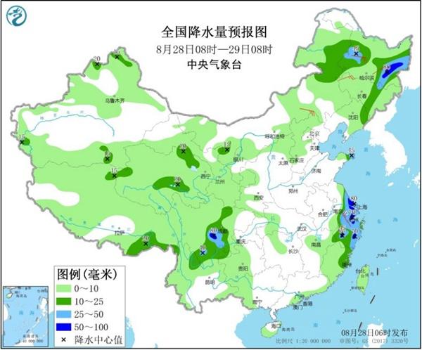 黑龙江吉林今日雨势仍强劲 南方呈现西热东雨格局