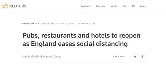 平心在线官网:英国首相宣布放松防疫划定:7月4日起社交距离2米缩减为1米、部门企业重新开业 第1张