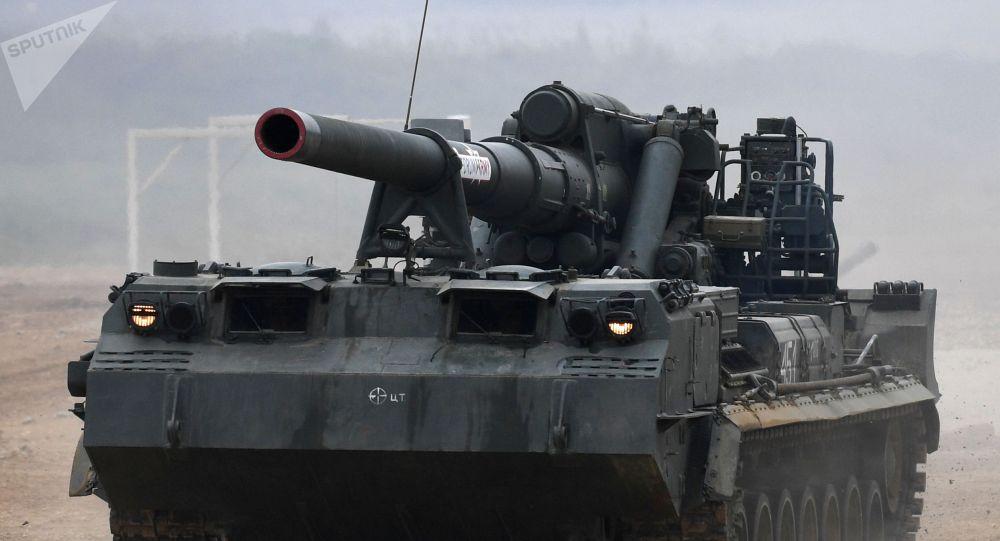俄完成世界最大自行火炮升级 能发射核弹化学弹