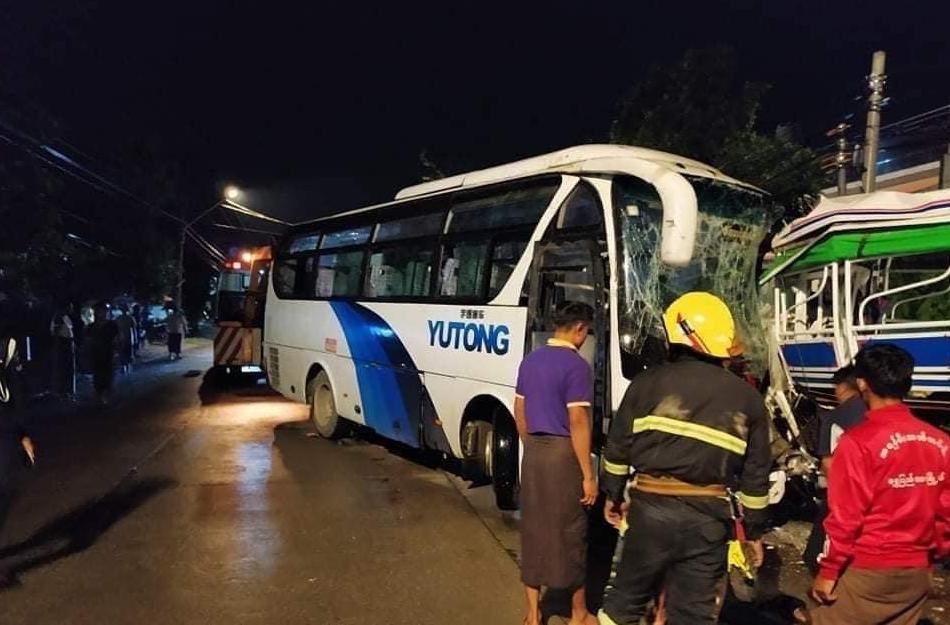 allbet gaming电脑版下载:缅甸仰光两车相撞 已致5人殒命 35人受伤 第1张