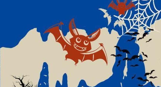 河北承德剪纸艺术家制作剪纸作品《一只蝙蝠的自述》