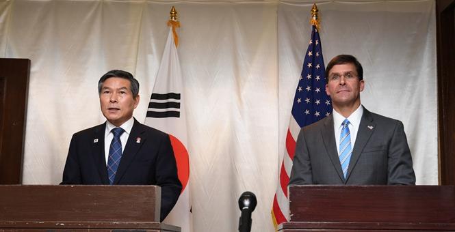 韩美防长泰国举行双边会谈 商定推迟联合空中演习