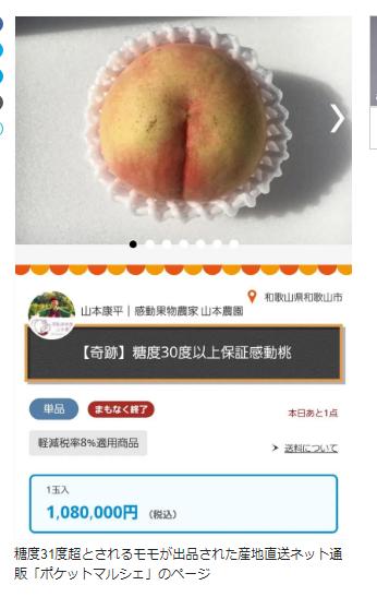 allbet:单价过百万的日本天价桃开卖 农户:保你吃一口就感动 第1张