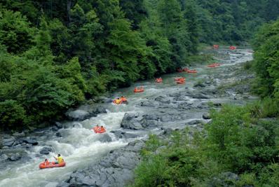 漂流:在湍急的水中清凉一夏