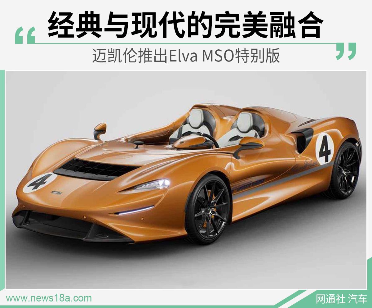 向经典赛车致敬 迈凯伦推出Elva MSO特别版