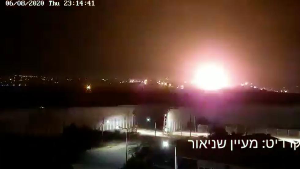 """""""气球炸弹""""飞向以色列后以军空袭加沙地带哈马斯目标"""