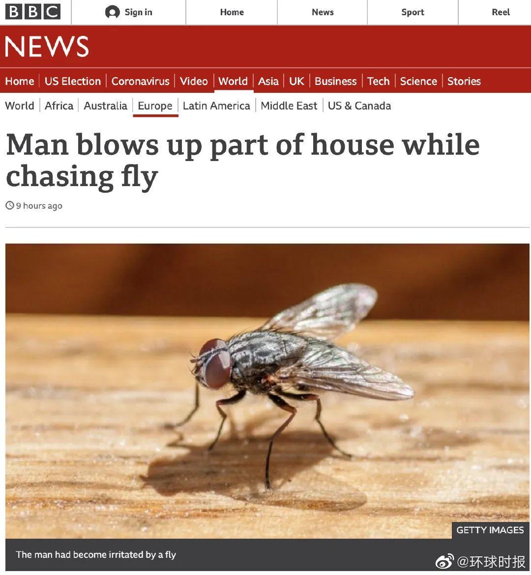 皇冠注册:法国一男子打苍蝇,把自己家炸了 第1张