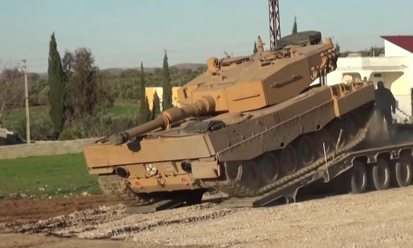 土耳其向叙利亚大举增兵再次派出德制豹2坦克参战