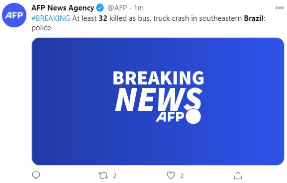 sunbet:巴西一公交车与卡车相撞 至少32人殒命 第1张