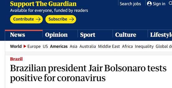 欧博allbet注册:博索纳罗采访时自曝阳性,接着当着记者面摘下口罩:让你们看看我的脸,我很好