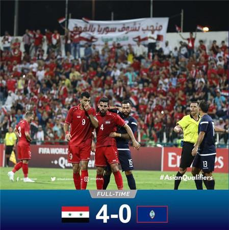 40强赛综述-伊朗0-1巴林 叙利亚4-0关岛登顶
