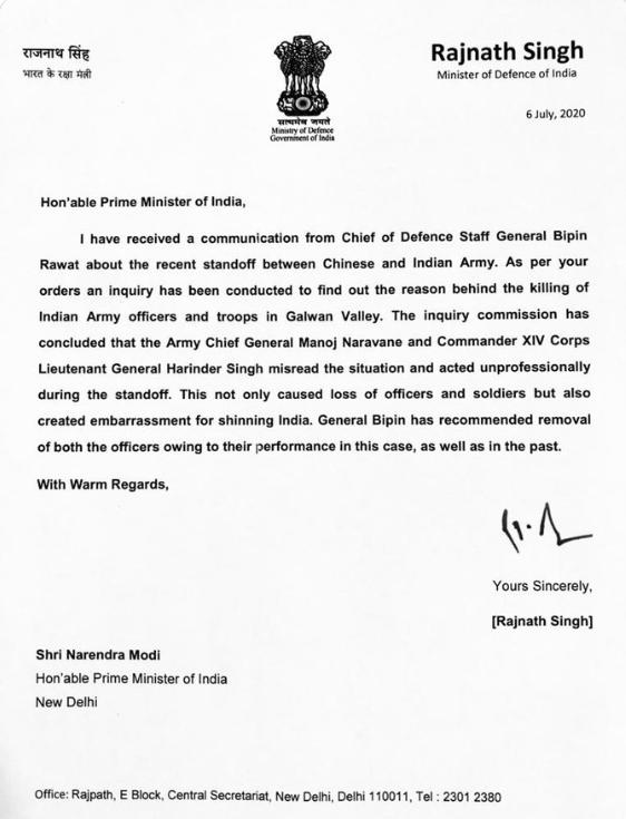 allbet登陆官网:印度防长写给莫迪的信承认错误并要求撤换指挥官?印媒:核实后确认其从未写过