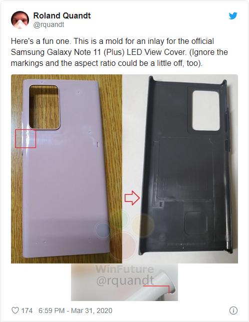 疑似三星Galaxy Note 20的神秘塑料保护壳曝光