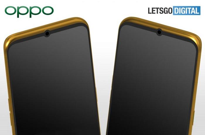 荷兰科技博客LetsGoDigital发现了OPPO的一项外观设计新专利:减少屏幕缺口前摄嵌入顶部细长边框