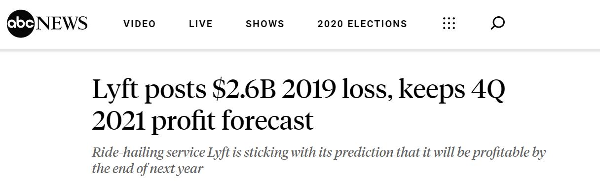 """试图挑战""""优惠券+折扣""""吸客模式Lyft预计2021Q4实现盈利"""