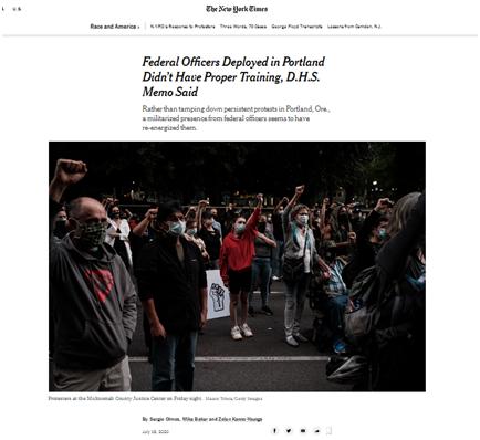 """皇冠app下载:派去控制骚乱的联邦执法人员被起诉""""违法抓人"""",美媒爆料尴尬内幕:他们没受过相关训练 第3张"""
